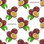 picture of moaning  - Seamless pattern with passionfruits - JPG