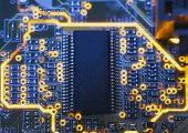 foto of microchips  - Electronic microcircuit and microchip  - JPG