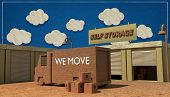 picture of self-storage  - self storage units made with cardboard boxes - JPG