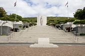 foto of punchbowl  - landscape view of the memorial at Punchbowl National Cemetery in Honolulu - JPG