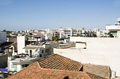 picture of larnaca  - rooftop cityscape view of Larnaca Cyprus hotels condos apartments offices - JPG