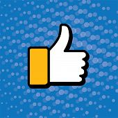 picture of confirmation  - pop art thumbs up  - JPG
