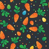 picture of carrot  - Eastern Carrot and Eggs Seamless Pattern - JPG