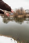 picture of fishing rod  - Winter spinning - JPG