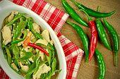 pic of stir fry  - Stir Fried Chicken Breast with Green Organic Cayenne Pepper  - JPG