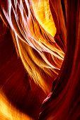stock photo of antelope  - Inside the Antelope Canyon  - JPG