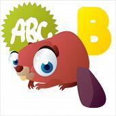 stock photo of beaver  - animal children alphabet - JPG