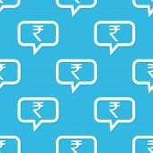 picture of indian currency  - Indian rupee symbol in chat bubble - JPG