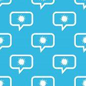 image of starburst  - Image of starburst in chat bubble - JPG