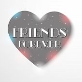 picture of friendship day  - illustration of a pretty heart for Friendship day - JPG