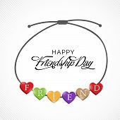 pic of friendship day  - illustration of a beautiful band for Friendship Day - JPG