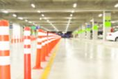 picture of parking lot  - Abstract Blurred Parking Lot - JPG