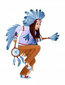 pic of national costume  - Amerind takes ethnic ritual dance in national costume - JPG