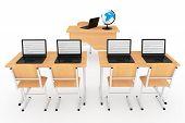 stock photo of classroom  - Modern Classroom Concept - JPG
