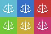 pic of judiciary  - justice vector flat web icons set  original modern design for web and mobile app - JPG
