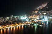 picture of olympic mountains  - Night View of Rio de Janeiro City Lights, Rodrigo de Freitas Lagoon, Mountains, Ipanema and Leblon. ** Note: Soft Focus at 100%, best at smaller sizes - JPG