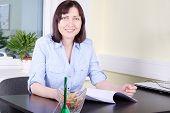 picture of secretary  - Portrait of a secretary - JPG