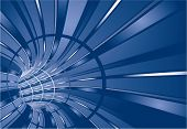 Blue tunnel. Vector background.