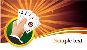 stock photo of playing card  - Casino abstract - JPG