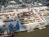 Aerial Of Port