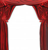 Red Drapes On White, See Vector Also In My Portfolio