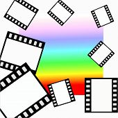 Vector Film On Colorful Background