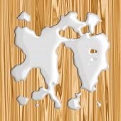 Vector Spilt Milk On Wood