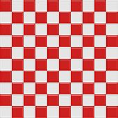 Red And White Glossy Checkered Seamless Tiles, See Vector Tiles In My Portfolio