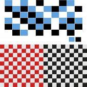 Vector Checkered Seamless Tiles Set