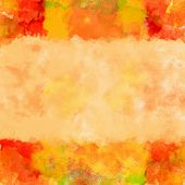 XL Colorful Watercolor Art Border