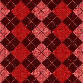 Seamless Argyle Sweater Background, Realistic and Detailed