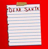 Vector Dear Santa Letter