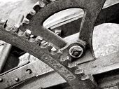 Gears And Levers On Old Farm Plow Machinery