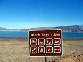 Beach Regulations Sign