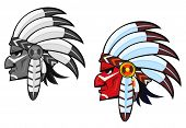 Indigenous people in national costume. Vector version also available