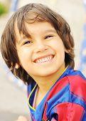 Sport kid smiling