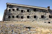 Old damaged abandoned building