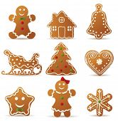 foto of gingerbread house  - Collection of Christmas cookies - JPG