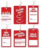 sales price tags