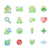 spring basic web icons set