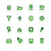 green file server icons