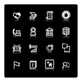 white building icons