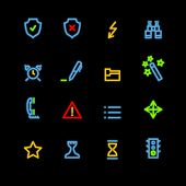 neon administration icons