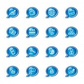 bubble business icons