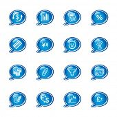 bubble finance icons