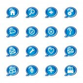 bubble web icons