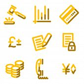 E-business icons, gold contour series