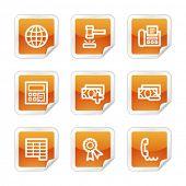 Finance 2 web icons, orange glossy sticker series