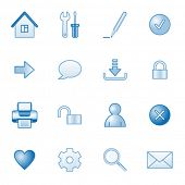 Basic web icons, blue series