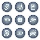 Electronics web icons set 2, mineral circle buttons series
